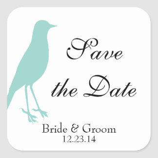 blue bird save the date stickers