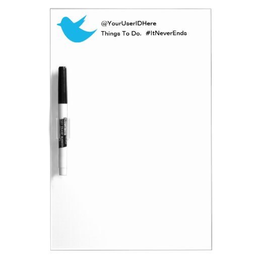 Blue Bird Social Media Dry Erase Whiteboards