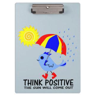 Blue Bird - Think Positive Message Clipboard