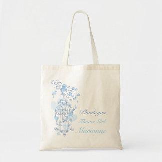 Blue bird wedding flower Girl bag