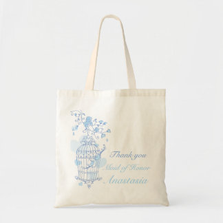 Blue bird wedding maid of honor bag