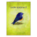 Blue Birdie Greeting Card(customisable)