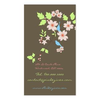 Blue birds business card customizable background