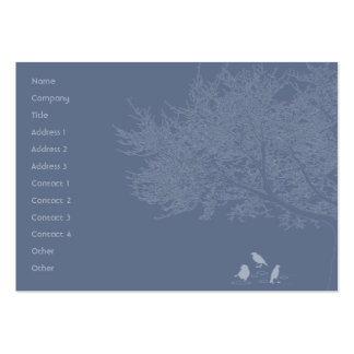 Blue Birds - Chubby Pack Of Chubby Business Cards