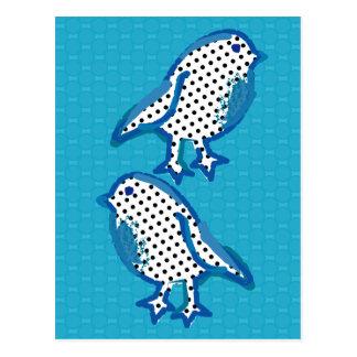 'blue birds' digital painting Postcard