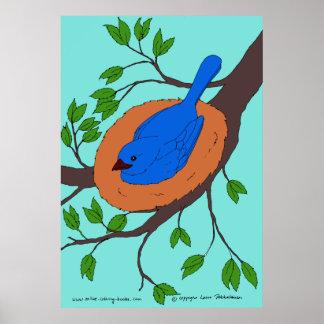 Blue Bird's Nest Poster