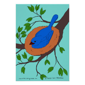 Blue Bird's Nest Poster