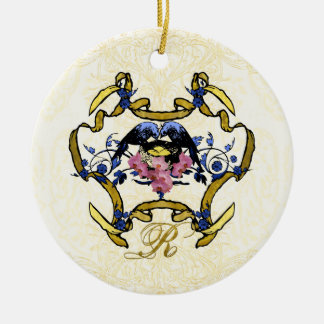 Blue Birds of Happiness Christmas Ornament