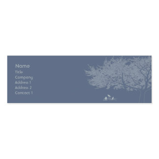 Blue Birds - Skinny Business Card Template