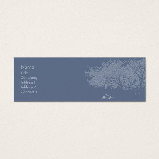 Blue Birds - Skinny Mini Business Card