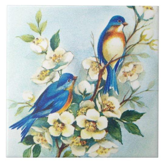 Blue Birds Tile