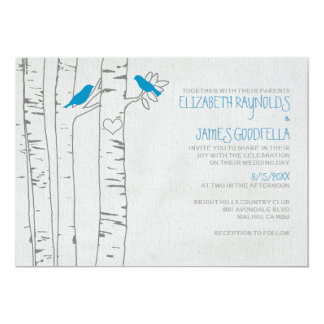Blue Birds Wedding Invitations