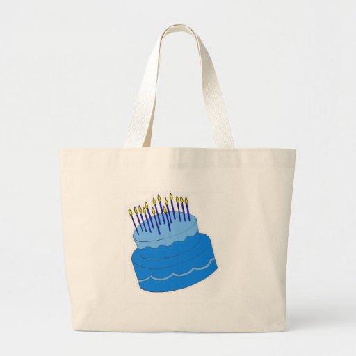 Blue Birthday Boy Cake Design Bags