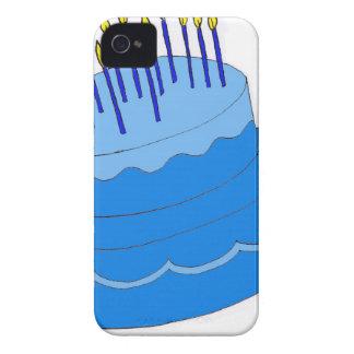 Blue Birthday Boy Cake Design iPhone 4 Covers