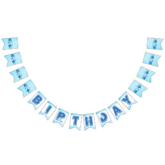 Blue Birthday Flag Banner