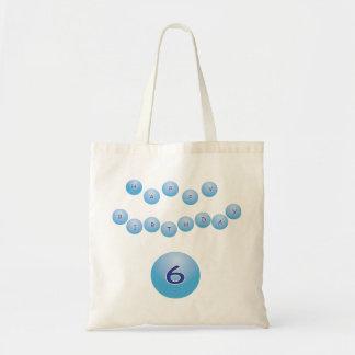 Blue Birthday for Boy Age 6 Budget Tote Bag