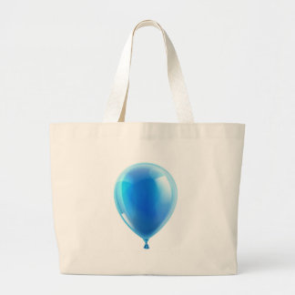 Blue birthday or party balloon tote bag