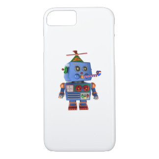 Blue birthday party toy robot iPhone 7 case