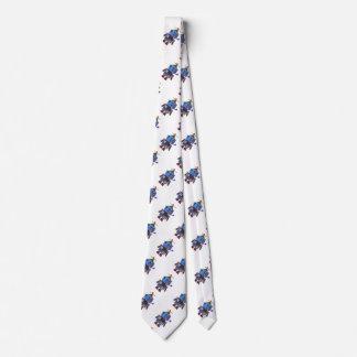 Blue birthday party toy robot tie