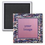 Blue Bits Picture Frame Magnet