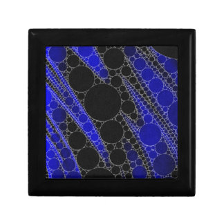 Blue Black Abstract Pattern Small Square Gift Box