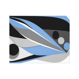 Blue Black an Abstract by Janet Davies, Devon Stretched Canvas Prints