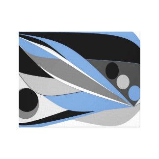 Blue Black an Abstract by Janet Davies, Devon Canvas Print