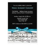 Blue Black and white music recital concert invites