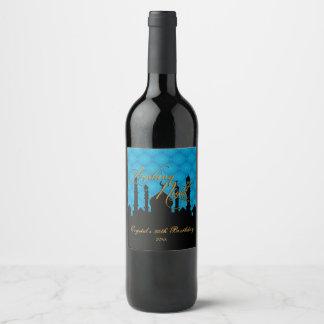 Blue & Black, Arabian Nights Wine Label