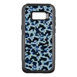 Blue Black Camo Abstract Pattern OtterBox Commuter Samsung Galaxy S8+ Case