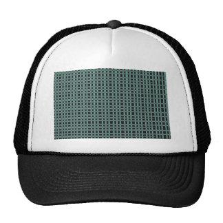 Blue Black Checks Artist created elegant pattern Trucker Hats