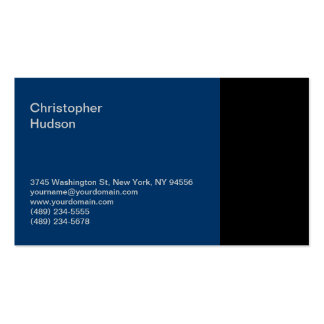 Blue Black Consultant Business Card