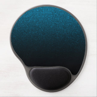Blue & Black Glitter Modern Trendy Glam Glamour Gel Mouse Mat