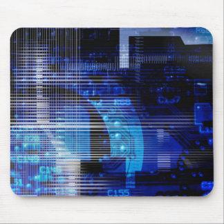 Blue black high tech designer mousepad