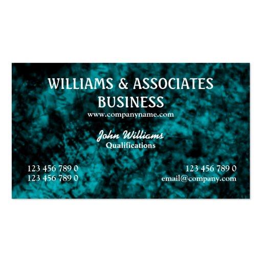 Blue black interior design art business cards