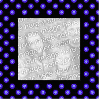 blue black kaleidoscope photo frame standing photo sculpture