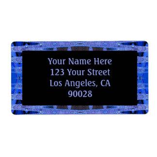 blue black shipping label