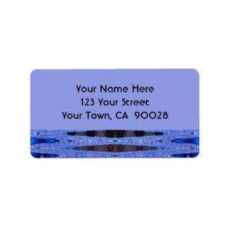 blue black address label