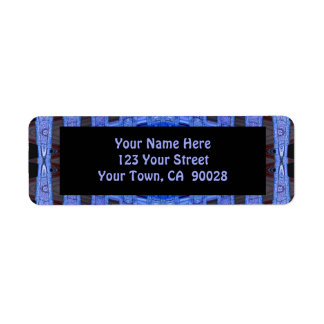 blue black return address label