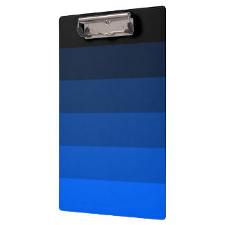 Blue Black Ombre Stripes Clipboards