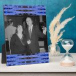blue black photo frame photo plaque