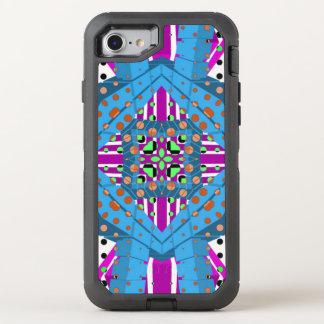 Blue Black Polka-dot Abstract OtterBox Defender iPhone 7 Case