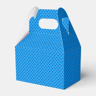 Blue Black Polka Dots Party Favor Box Party Favour Boxes