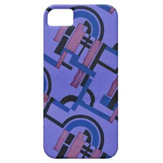 Blue black purple 1920s Deco design iPhone 5 Cases