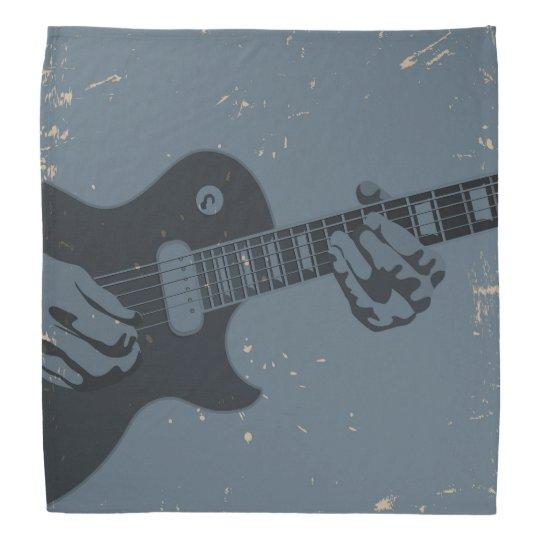 Blue & Black Rustic Guitar Player Do-rag