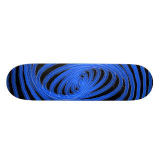 Blue & Black Spiral Graphics: Skateboard