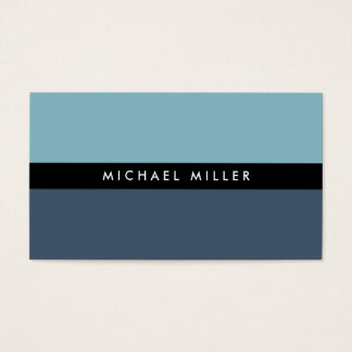 Blue black stripe simple minimal smart masculine business card