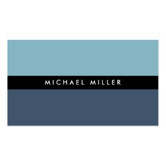 Blue black stripe simple minimal smart masculine pack of standard business cards