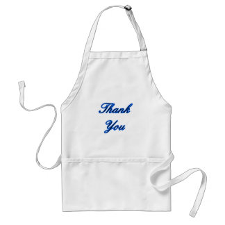 Blue Black Thank You Design The MUSEUM Zazzle Gift Adult Apron