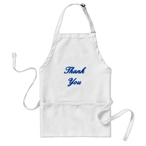 Blue Black Thank You Design The MUSEUM Zazzle Gift Aprons